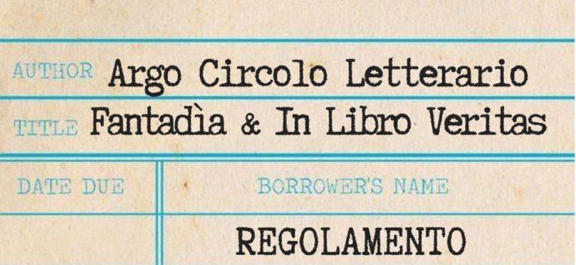 Regolamento ArgoCircolo Letterario